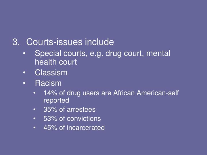 Courts-issues include