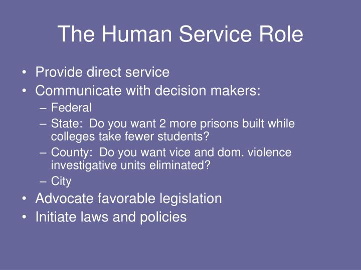 The Human Service Role