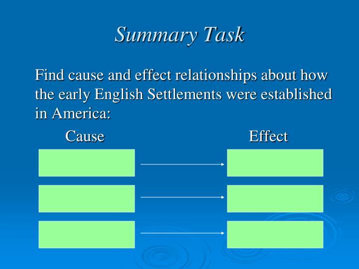 Summary Task