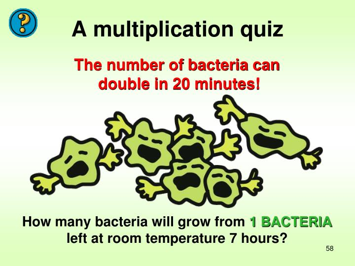 A multiplication quiz