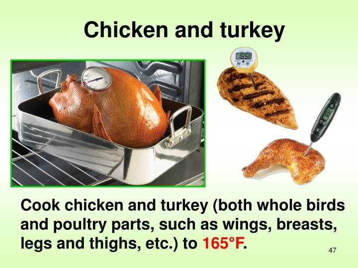 Chicken and turkey