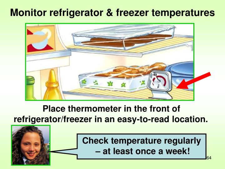 Check temperature regularly