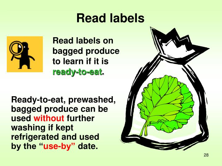 Read labels