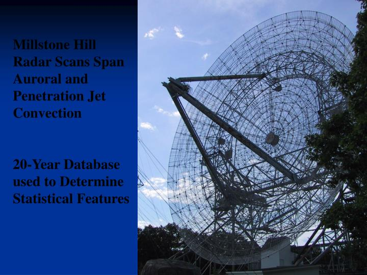 Millstone Hill Radar Scans Span Auroral and Penetration Jet Convection
