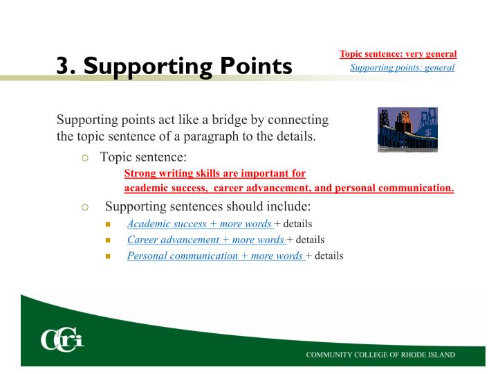 3. Supporting Points