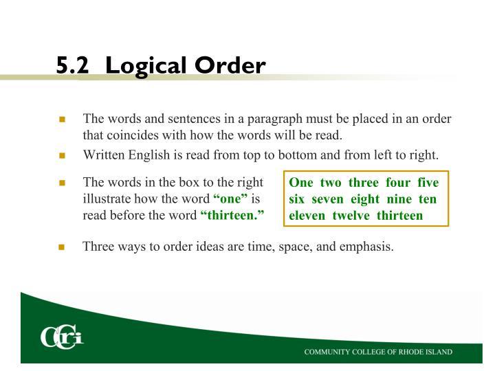 5.2Logical Order