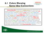 6 1 colors showing some idea connections