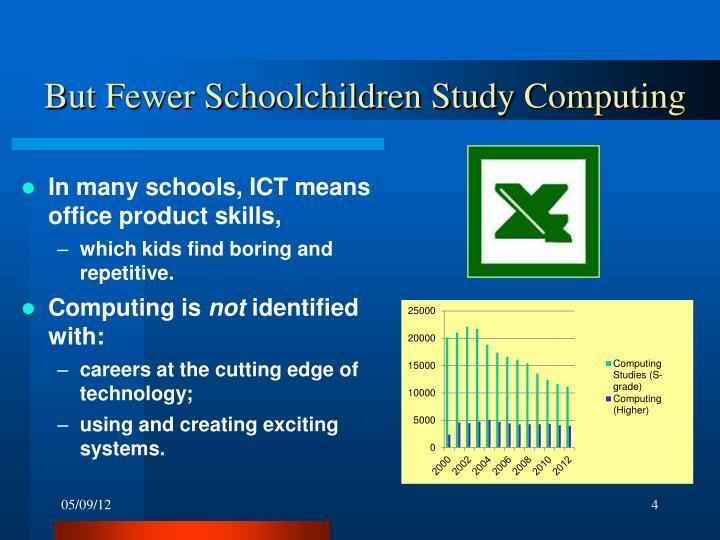 But Fewer Schoolchildren Study Computing