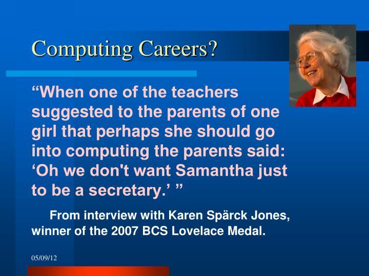 Computing Careers?