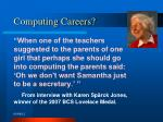 computing careers