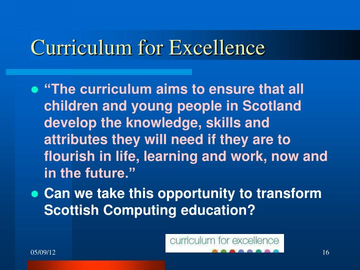 Curriculum for Excellence