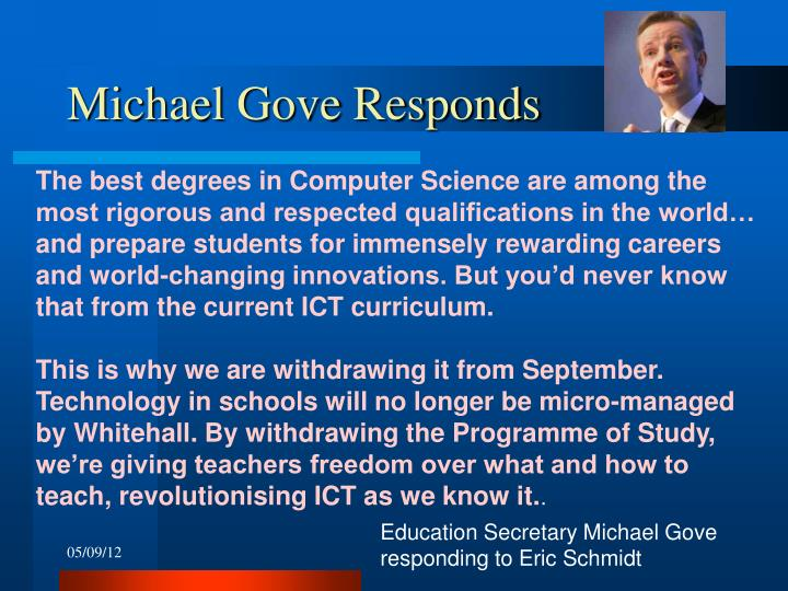 Michael Gove Responds