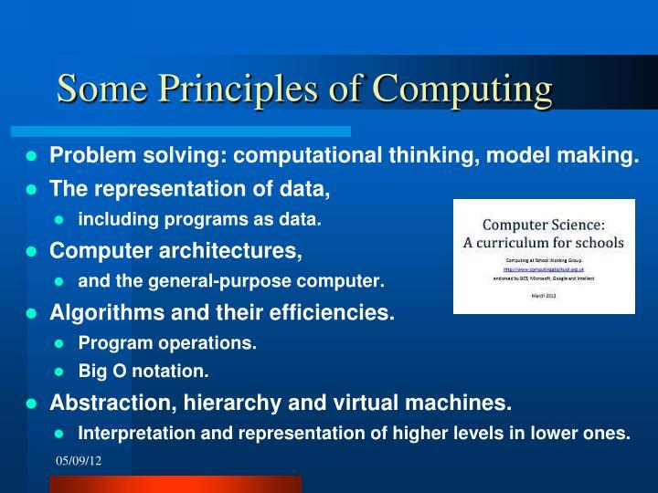 Some Principles of Computing