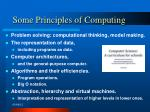 some principles of computing
