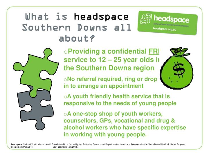 PPT - What is headspace ? PowerPoint Presentation - ID:1705317