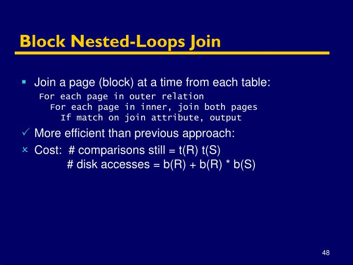 Block Nested-Loops Join