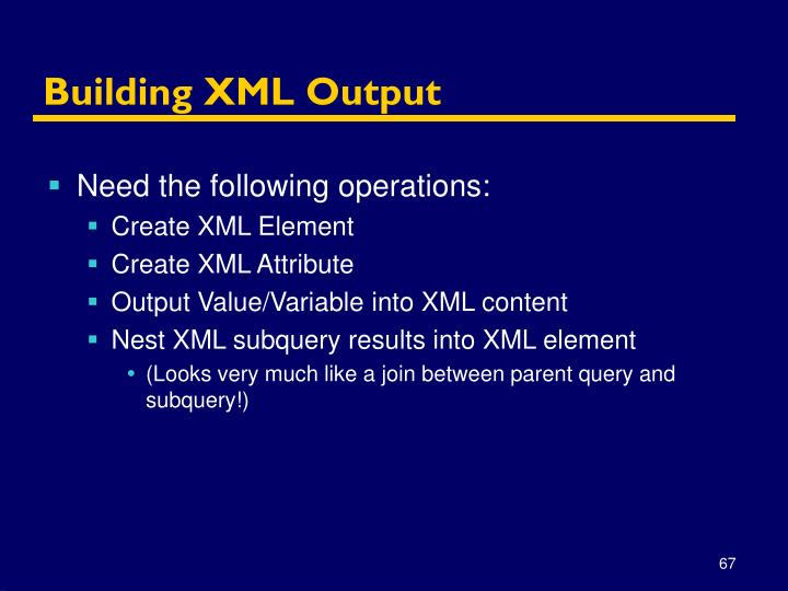 Building XML Output