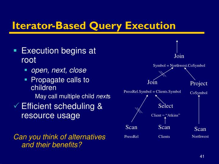 Iterator-Based Query Execution