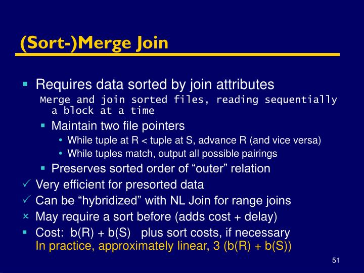 (Sort-)Merge Join