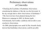 preliminary observations at concordia