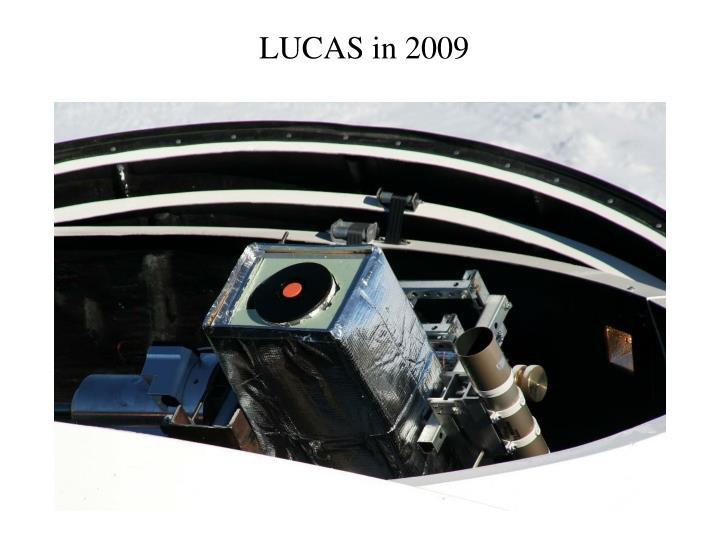 LUCAS in 2009