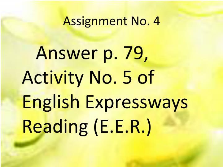 Assignment No. 4