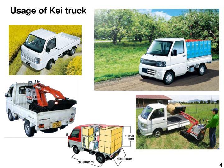 Usage of Kei truck