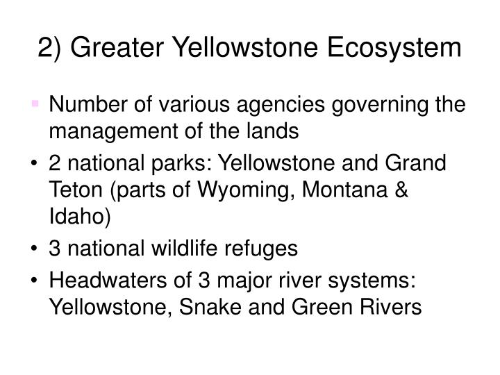 2) Greater Yellowstone Ecosystem
