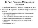 b past resource management approach
