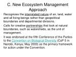 c new ecosystem management approach