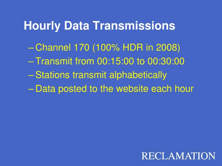 Hourly Data Transmissions
