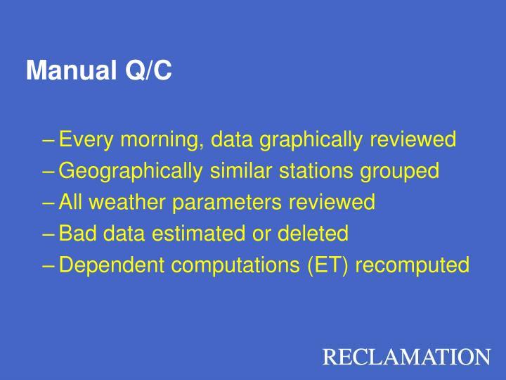 Manual Q/C