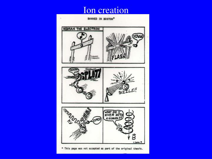 Ion creation