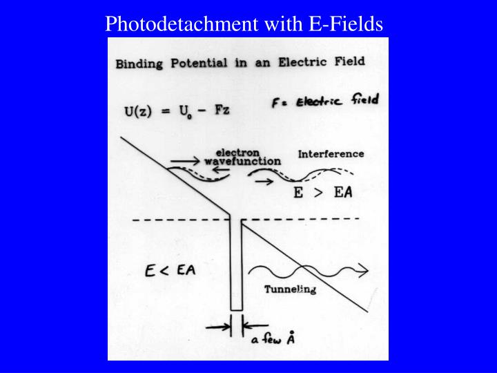 Photodetachment with E-Fields