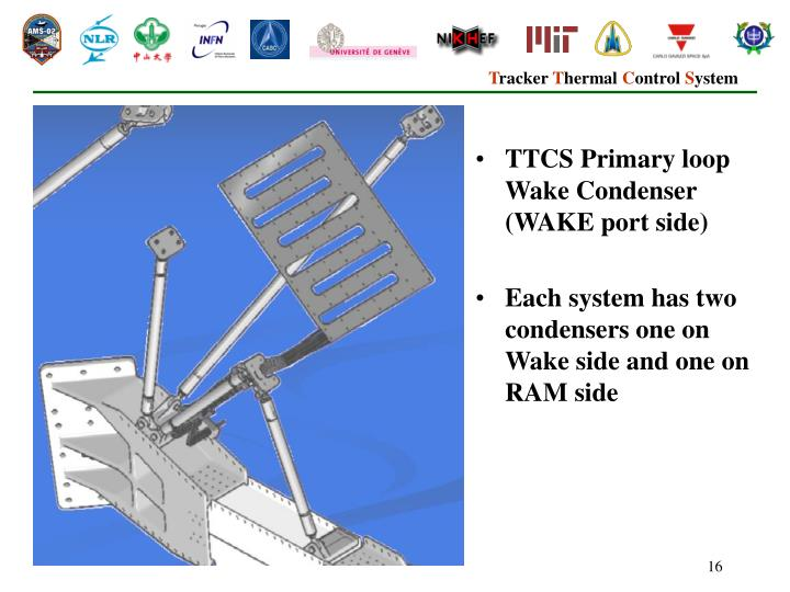 TTCS Primary loop Wake Condenser