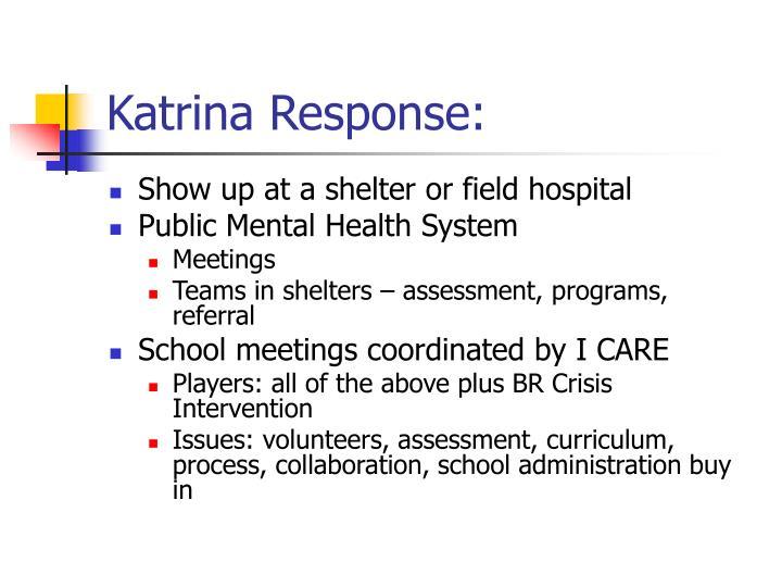 Katrina Response: