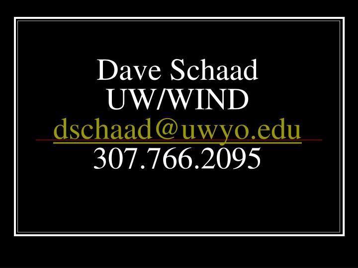 Dave Schaad