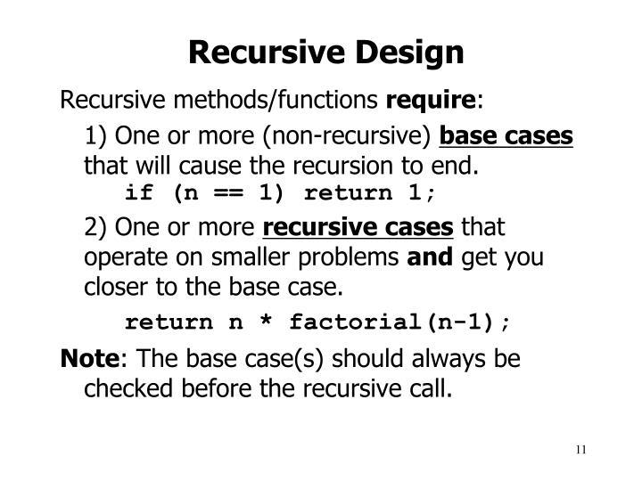 Recursive Design