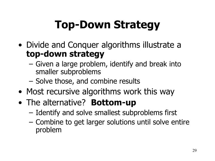 Top-Down Strategy