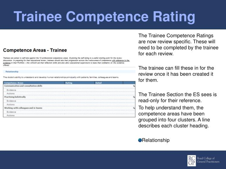 Trainee Competence Rating