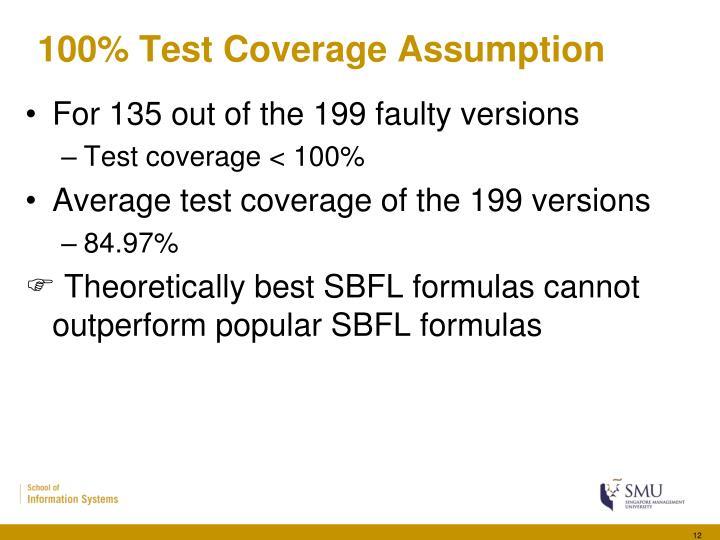 100% Test Coverage Assumption