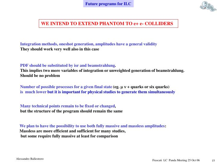 Future programs for ILC