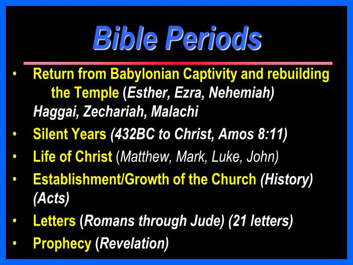 Bible Periods