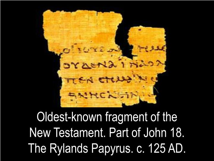 Oldest-known fragment of the