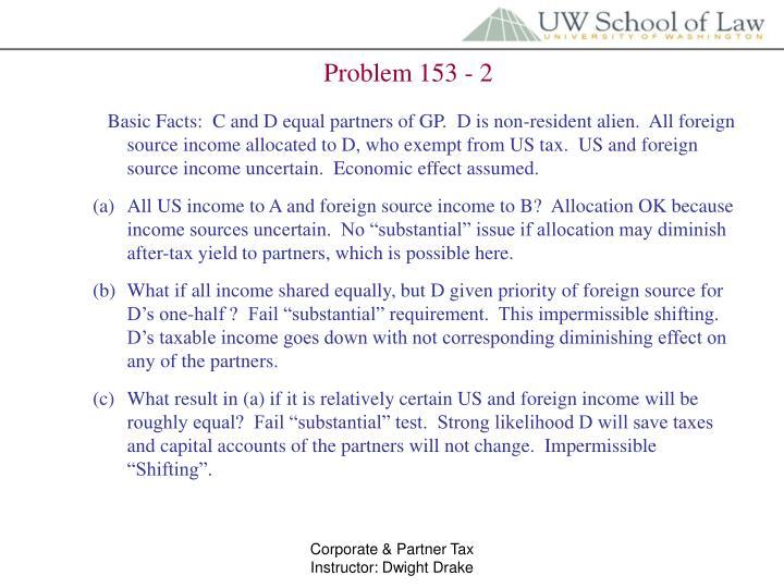 Problem 153 - 2