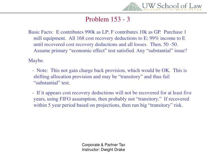 Problem 153 - 3