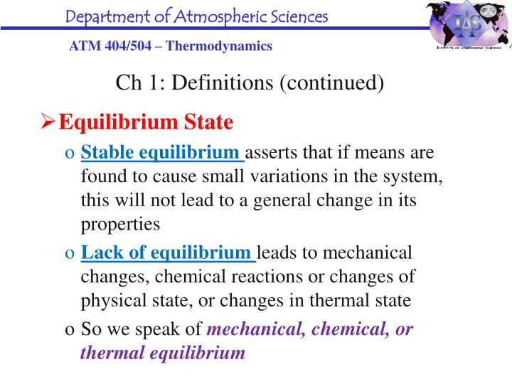 Ch 1: Definitions (continued)