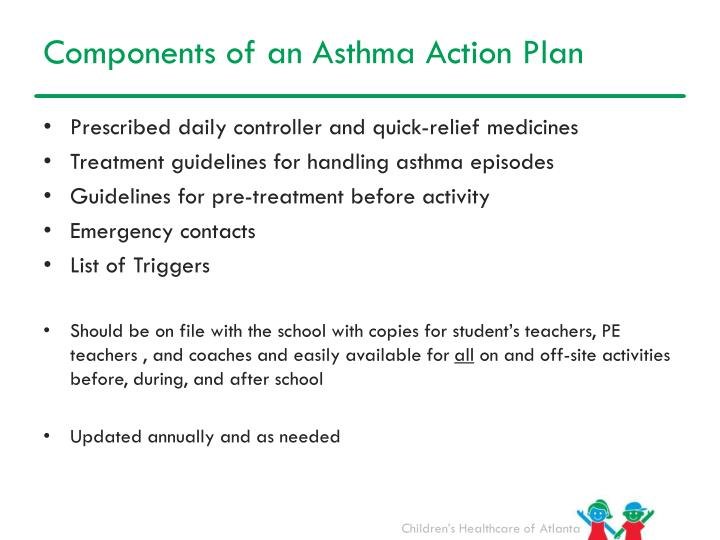 Components of an Asthma Action Plan