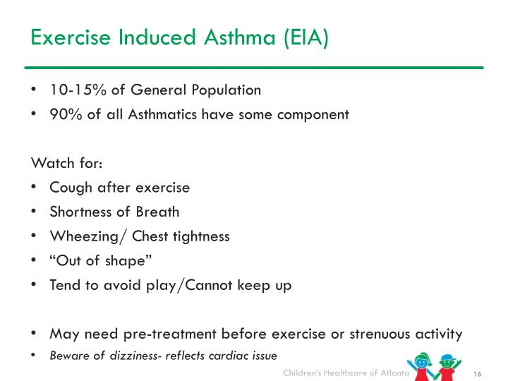 Exercise Induced Asthma (EIA)