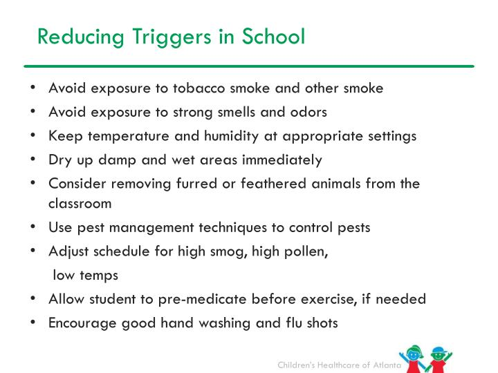 Reducing Triggers in School